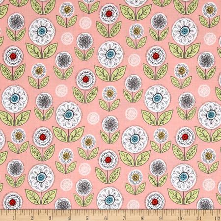 Riley Blake Dutch Treat Garden Pink Fabric By The Yard
