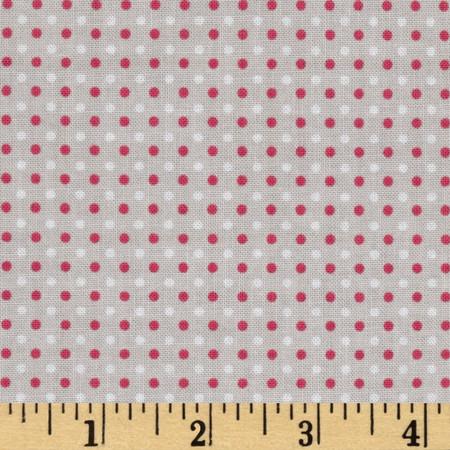 Riley Blake Enchant Dots Gray Fabric