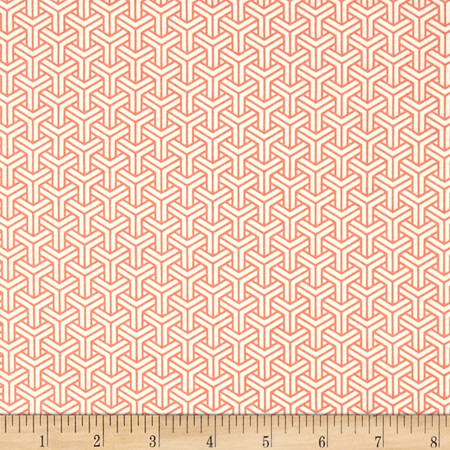 Riley Blake Fancy & Fabulous Coral Fabric By The Yard