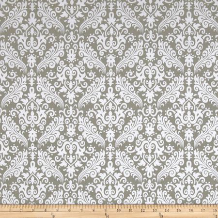Riley Blake Flannel Medium Damask Gray Fabric