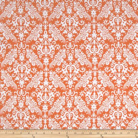Riley Blake Flannel Medium Damask Orange Fabric