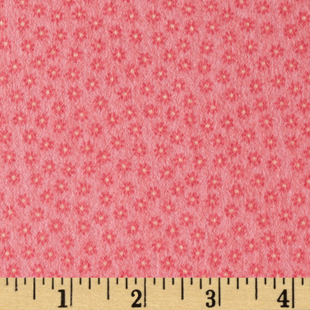 Riley Blake Happy Flappers Flannel Petal Pink Fabric