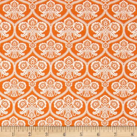 Riley Blake Happy Haunting Damask Orange Fabric