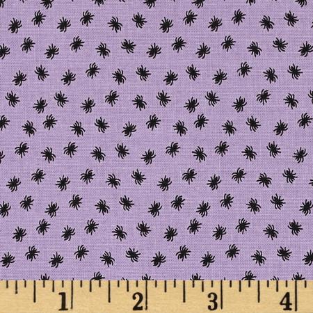 Riley Blake Happy Haunting Spider Purple Fabric