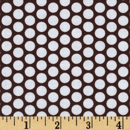 Riley Blake Honeycomb Dot Brown/White Fabric By The Yard