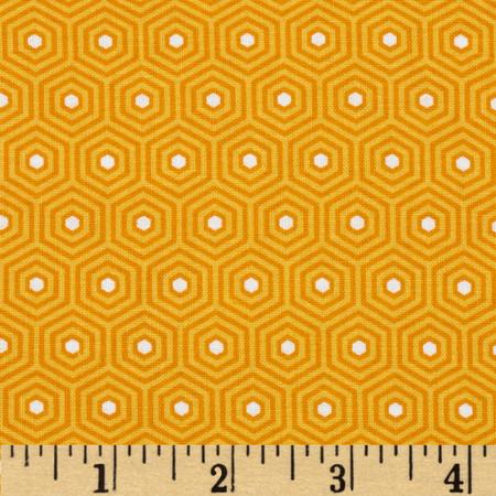 Riley Blake Lazy Day Hexagon Orange Fabric