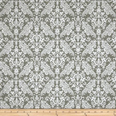 Riley Blake Medium Damask Grey Fabric By The Yard