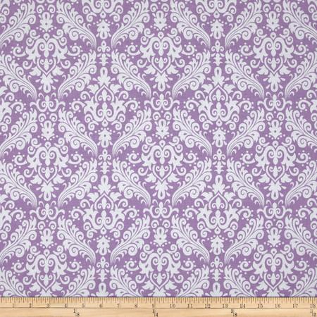 Riley Blake Medium Damask Lavender Fabric