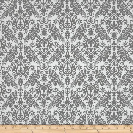 Riley Blake Medium Damask White/Grey Fabric