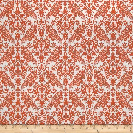 Riley Blake Medium Damask White/Orange Fabric By The Yard