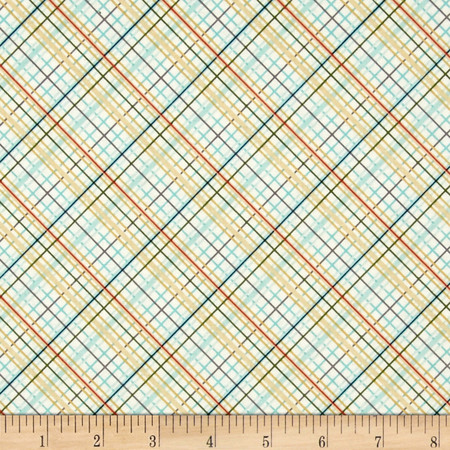 Riley Blake Offshore Plaid Tan Fabric By The Yard