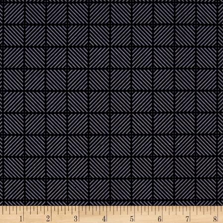 Riley Blake Posy Garden Geometric Navy Fabric By The Yard