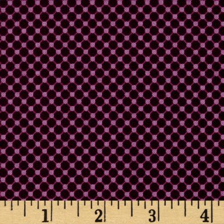 Riley Blake Posy Garden Grid Purple Fabric By The Yard