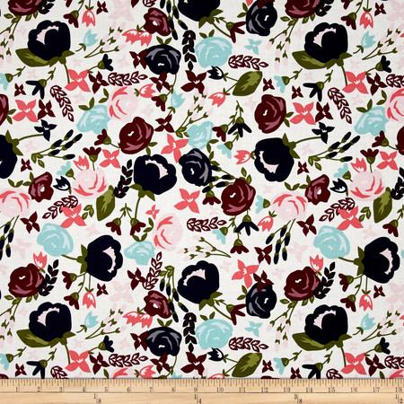 Riley Blake Posy Garden Main Cream Fabric By The Yard