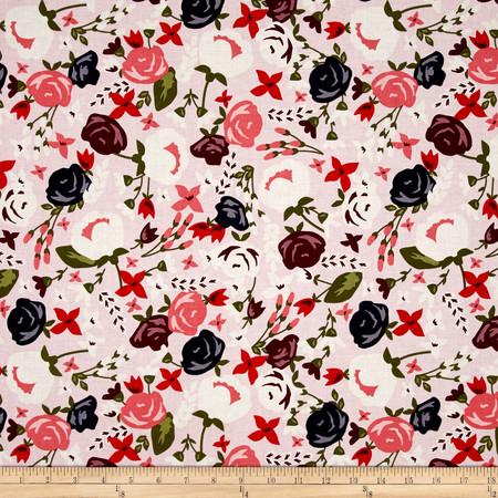 Riley Blake Posy Garden Main Pink Fabric By The Yard