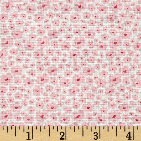 Riley Blake Posy Garden Small Floral Cream Fabric By The Yard