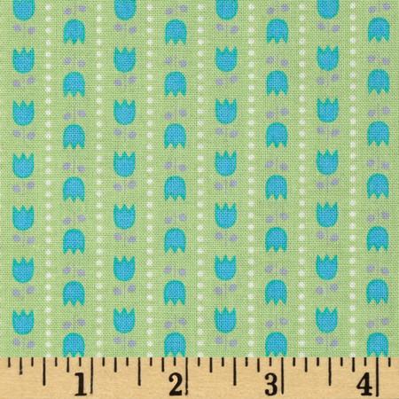Riley Blake Teddy Bear's Picnic Teddy Stripe Green Fabric By The Yard
