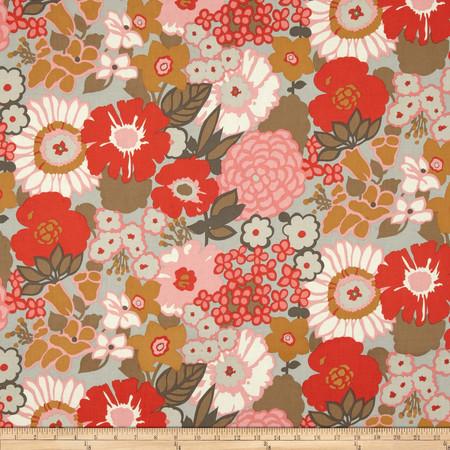 Rita Floral Mara Oyster Fabric