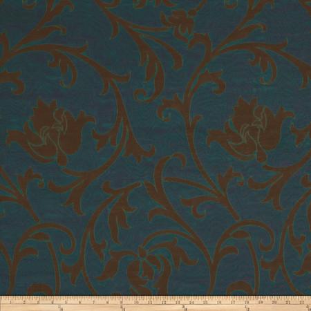 Robert Allen Promo Candlewick Jacquard Peacock Fabric
