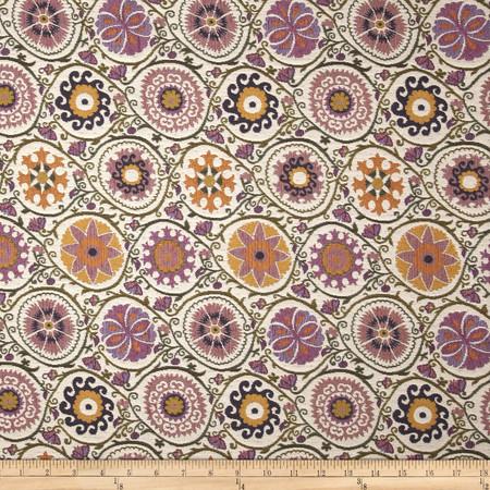Robert Allen Promo Flower Dew Jacquard Violet Sky Fabric