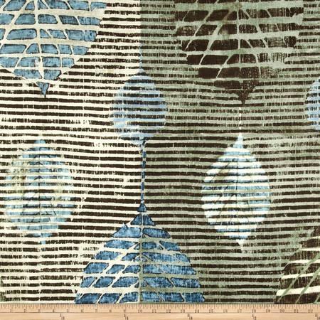Robert Allen Promo Lined Leaves Sateen Caribbean Fabric