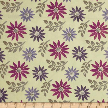 Robert Allen Promo Little Dahlia Jacquard Grey Fabric