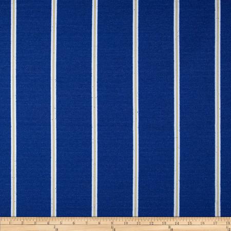 Robert Allen Promo Long Beach Stripe Boucle Atlantic Blue Fabric