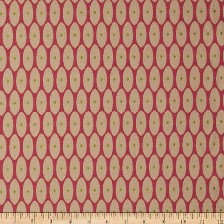 Robert Allen Promo Middle Dot Jacquard Raspberry Fabric