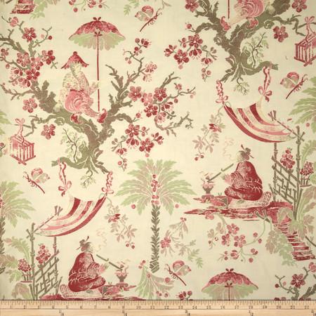 Robert Allen Promo Natsuko Jacquard Pomegranate Fabric
