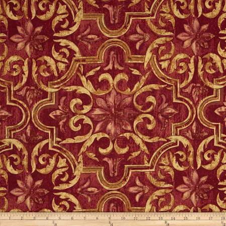 Robert Allen Promo Rosehill Red Fabric