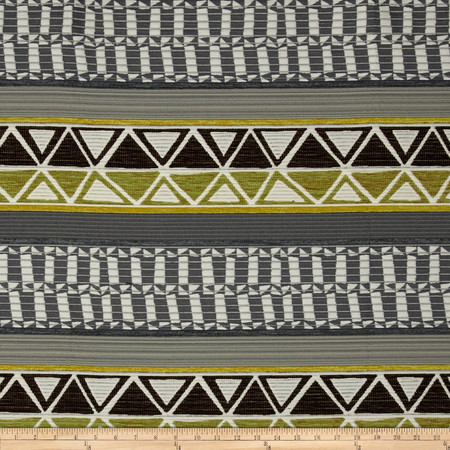 Robert Allen Promo Tahoe Stripe Chenille Mineral Fabric By The Yard