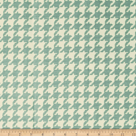 Robert Allen Promo Twiggy Houndstooth Twill Tide Fabric