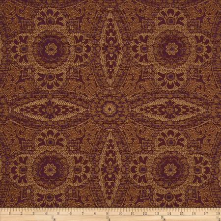 Robert Allen Promo Upholstery Jacquard Sanjaya Plum Fabric