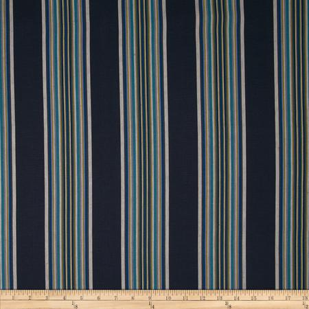 Robert Allen Promo Villa Stripe Blend Indigo Fabric