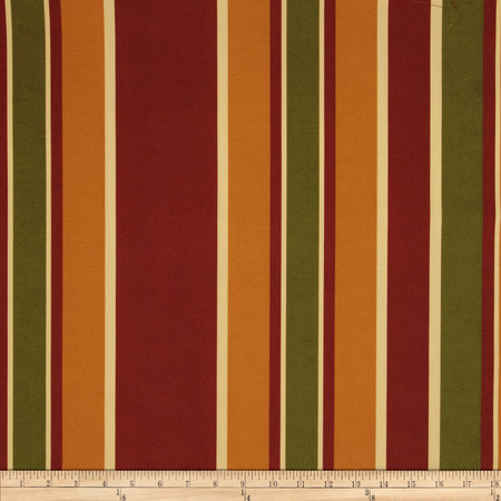 Robert Allen Promo Zelid Stripe Tomato Fabric