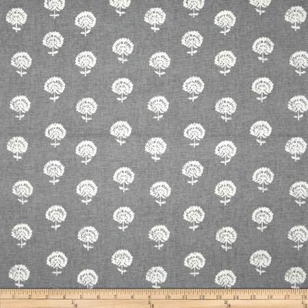 Robert Allen @ Home Hand Flora Greystone Fabric