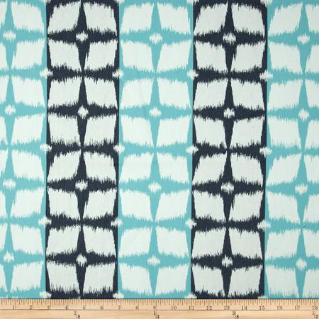 Robert Allen @ Home Neo Motif Jacquard Aqua Fabric By The Yard