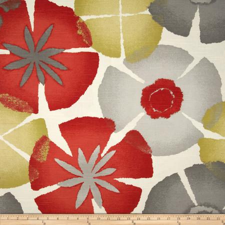Robert Allen @ Home Pure Petals Slub Coral Fabric