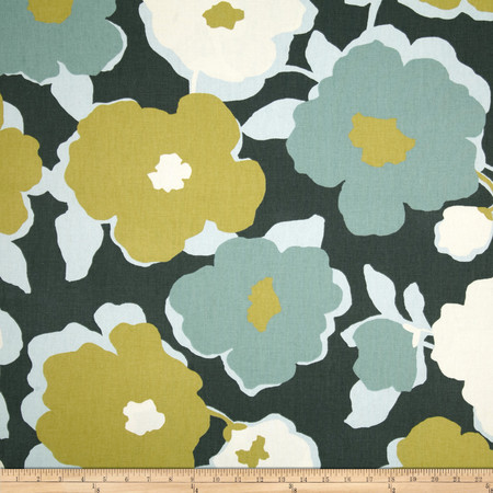 Robert Allen @ Home Top Floral Charcoal Fabric By The Yard