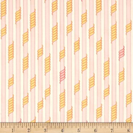 Kaufman Drawn Thin Stripe Sorbet Fabric By The Yard