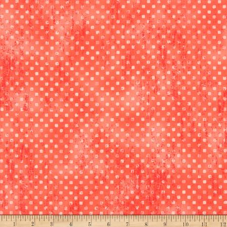 Robert Kaufman Garden Allure Dots Coral Fabric