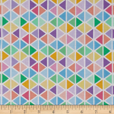 Robert Kaufman Rainbow Remix Diamond Plaid Sweet Fabric