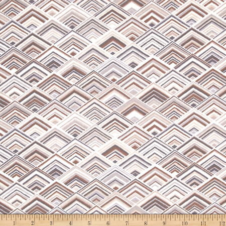 Robert Kaufman Vantage Point Diamond Plaid Earth Fabric
