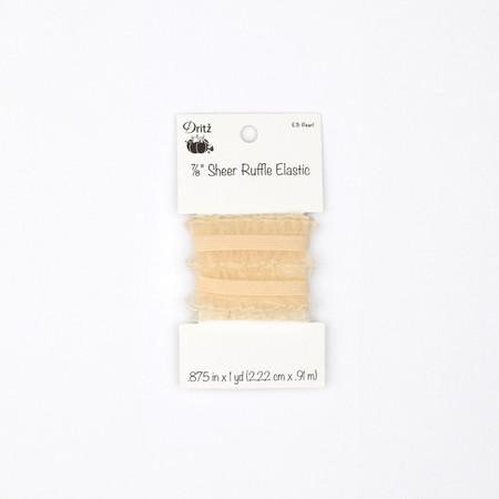 Ruffle Elastic 7/8'' X 1 yd Pearl