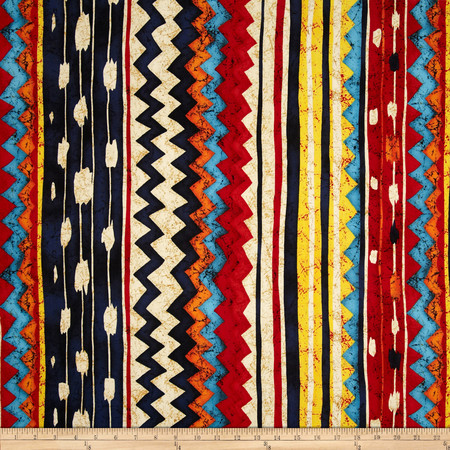 Santa Fe Pow-Wow Kilim Bright Multi Fabric