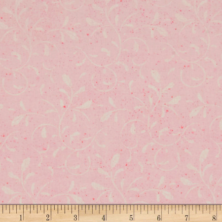 Scrolls Pink Fabric By The Yard