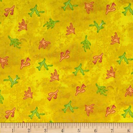 Sea Shanty Seaweed Yellow Fabric