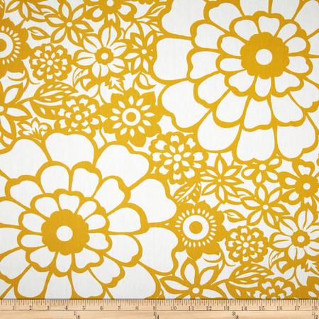 Seedlings by Thomas Paul Fiesta Twill Yellow Fabric By The Yard