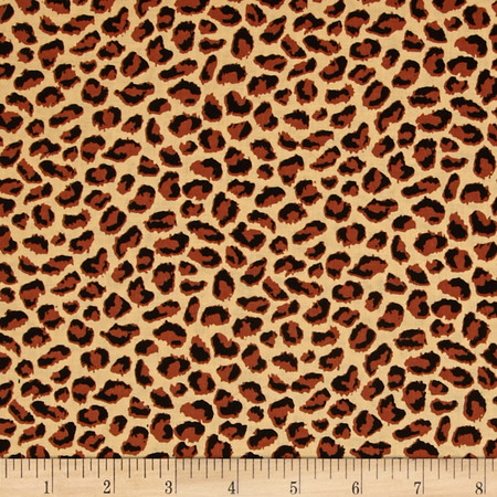 Serengeti Leopard Skin Brown Fabric