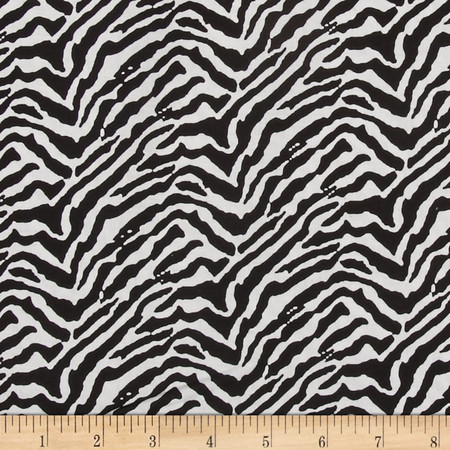 Serengeti Zebra Skin Black Fabric